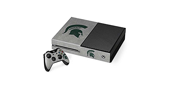 Skinit Decal Gaming Skin for Xbox One Console and Controller Bundle Officially Licensed College Michigan State University Grey Spartans Logo Design