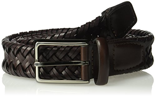 Dockers Men's Tubular Stretch Braided Belt,Brown,38 ()