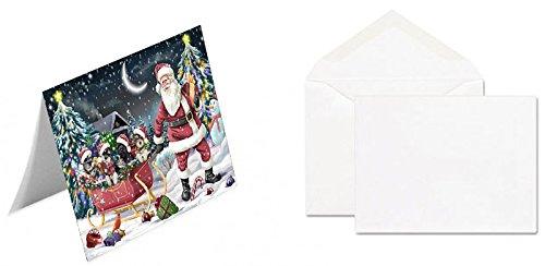 Santa Sled Dogs Christmas Happy Holidays Schnauzer Greeting Card GCD2985 (10)