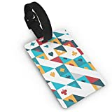 RZM YLY Playing Cards Luggage Tag Travel Bag Suitcase Labels W/Privacy Cover Tags Travel ID Label for Bag with Strap