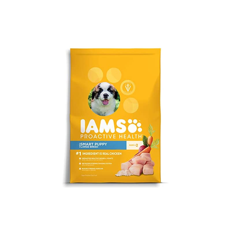 dog supplies online iams proactive health smart puppy large breed dry dog food chicken, 30.6 lb. bag