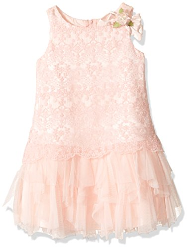 Biscotti Little Girls' Once Upon a Wish Dress With Embroidered Bodice, Pink, 5 by Biscotti