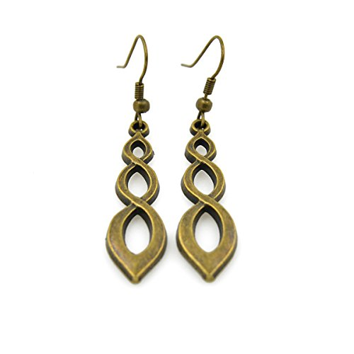 CHOP MALL Vintage Circle Spinal Hollow Bronze Copper Drop Earrings(1 Pair)