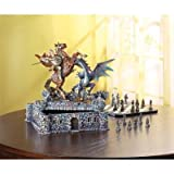 Dragon & Knight Chess Set ,Civil War Chess Set ,battle over this medieval fortress and the treasures hidden within