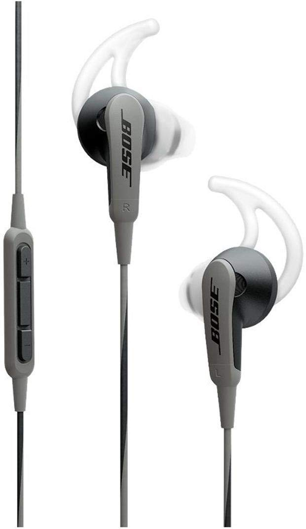 Bose SoundSport in-ear headphones for Samsung and Android devices, Charcoal 1 Deep, clear sound enhanced by exclusive TriPort technology for crisp highs and natural sounding lows.Connectivity Technology: Wired Proprietary Stay Hear tips, in three sizes, conform to your ear's shape to stay comfortably in place all day If the ear tips falling off securely attach the ear tips to the earpiece and nozzle hook to properly adhere to the ear base