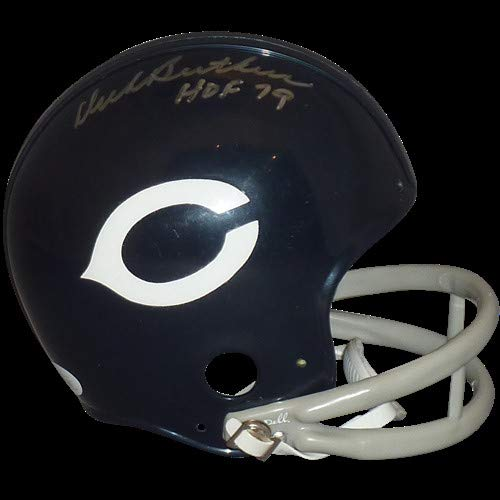 hed Signed Auto Chicago Bears Throwback Mini Helmet HOF 79 JSA - Certified Authentic ()