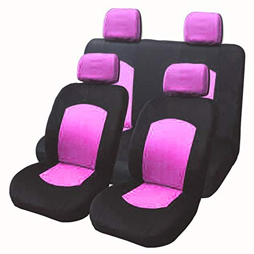 ZSQSC Car Seat Cover Universal Fit Most Brand Car Covers 6 Colors Car Seat Protector Car Styling Seat Covers ZSQSC (Color : Pink 8pcs) by ZSQSeatCovers