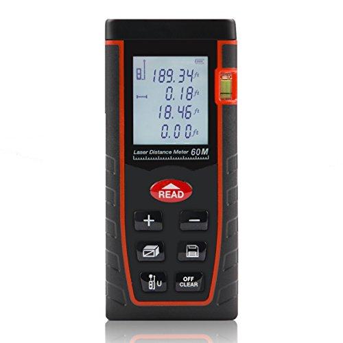 Shentec Laser Measuring Device, 196ft Handheld Digital Me...