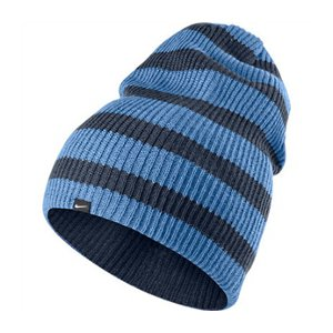 78faacdf83c Nike Snowboard Slouch Navy Blue Stripes Beanie Winter Sport Snow Hat Womens  OS