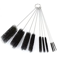 HOMEDECO 8 Inch Nylon Tube Brush Pipe Cleaning Brushes Variety Pack 10 Pcs/Set