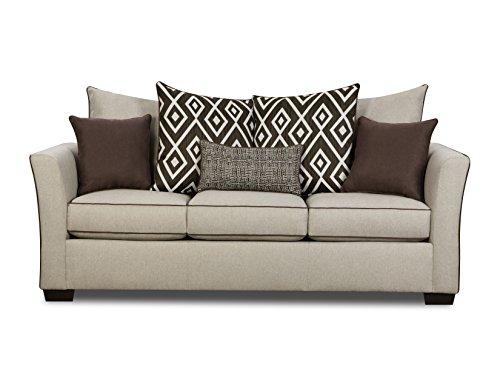 Simmons Upholstery 4202-03 Linen Stewart Sofa, Tan