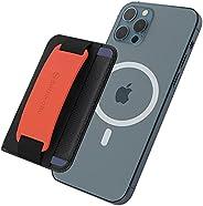 Sinjimoru 3 in 1 Apple MagSafe Wallet for iPhone as Phone Grip Stand, MagSafe Cell Phone Wallet Stick On Funct