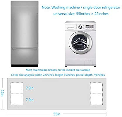 Funda impermeable para frigorífico, multibolsillo, resistente al ...