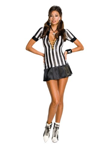 Sexy Baseball Halloween Costumes (Secret Wishes Women's Playboy Adult Referee Costume, Multicolor, X-Small)