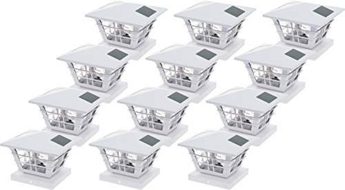 GreenLighting 5x5 Solar Post Cap Light with 4x4 Base Adapter (White, 12 Pack) by GreenLighting (Image #8)