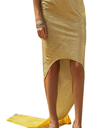 Zago Women's Swimsuit Sparkling Mermaid Tail Skirt Beach Costumes Golden S
