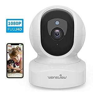 Wansview ネットワークカメラ WiFi IPカメラ ワイヤレス屋内防犯カメラ 1080P FHD 200万画素