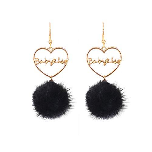 Han Edition Exquisite Fashion Jewelry Earrings Earrings Sable Hair Bulb Tassel Women Earrings,Ear Hook,Blue