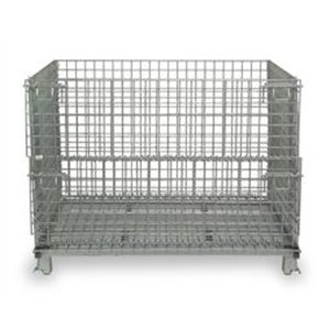 Nashville Wire Collapsible Wire Containers With Zinc-Plat...