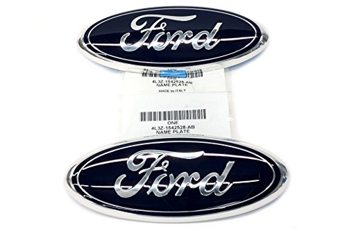 2004-2009 Ford F150 Blue Ford Logo Oval 9 Inch Grille & Tailgate Emblem (2) OEM