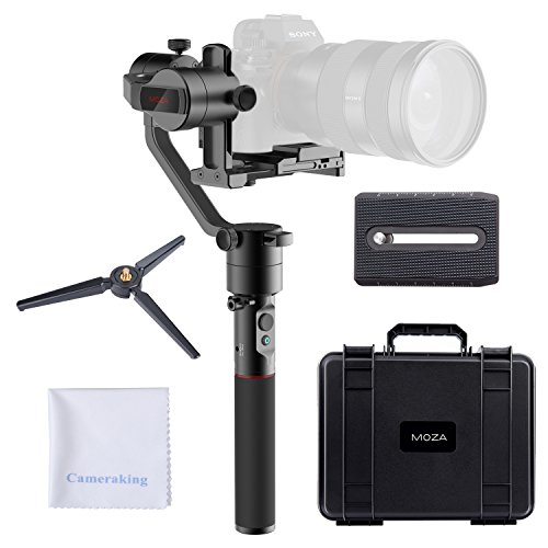 (MOZA AirCross 3-Axis Handheld Gimbal Ultra-lightweight Portable Camera Stabilizer Support Unlimited Power Source Long-exposure Timelapse Auto-Tuning for Parameters For Mirrorless Cameras up to)