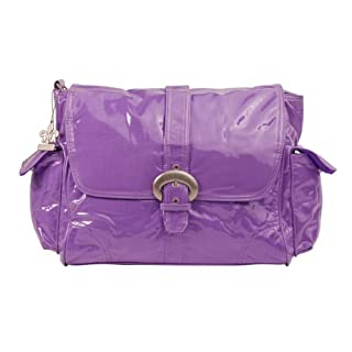 Kalencom Laminated Buckle Bag, Grape Corduroy