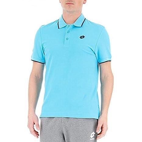 Lotto L73 Polo Logo II - Polo, Hombre, Azul(BLU CPR/NVY): Amazon ...