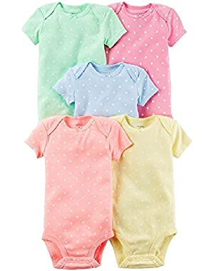 Baby Girl 5-pack Polka-Dot Bodysuits