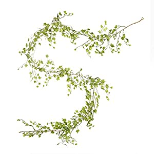 Darice Mini Ivy Variegated Green, 6 feet, 84 Tips Garland 17