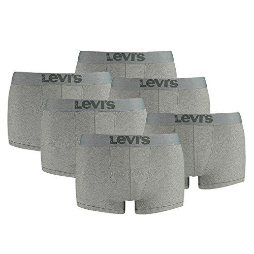 Mélange Pant Pack 758 Grey Middle Er Levis Boxershorts Men 6 Trunk Underwear Boxer 70q5Sn