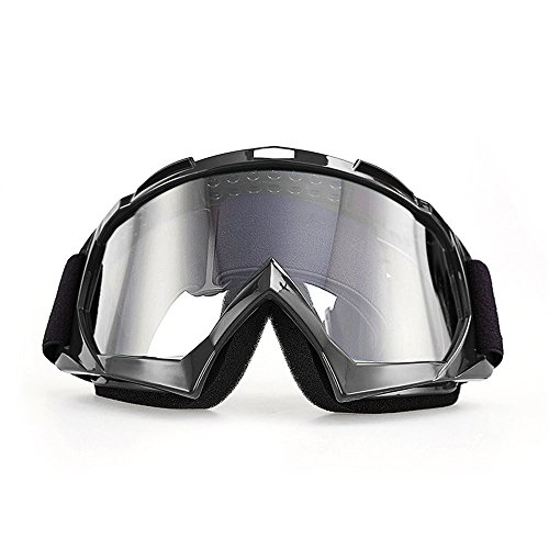 Motorcycle Goggles, CarBoss Anti UV Safety Eye Protection Anti-Scratch Dustproof Motocross Motorbike Goggle Great Idea for Snow Skiing, Cycling, Climbing, Riding & Outdoor Sports Eyewear Clear - Boots Prescription Goggles