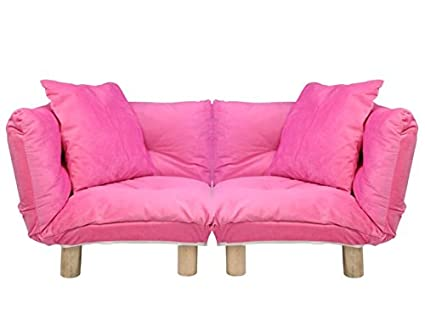 Magshion Kids Sofa Set Children Upholstered Chair Lounge Couch With Cushion  (Pink Set Of 2