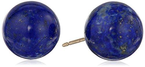 14k Yellow Gold 10mm Lapis Lazuli Stud Earrings 14k Yellow Gold Lapis Ring