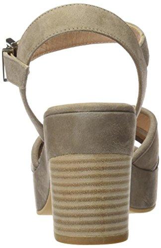 Calzados Marian 35406, Sandalias con Plataforma para Mujer Marrón (Taupe)