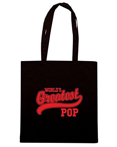 T-Shirtshock - Bolsa para la compra OLDENG00727 worlds greatest pop light Negro