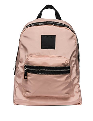 Replay Unisex Unisex Light Pink Backpack Pink by Replay