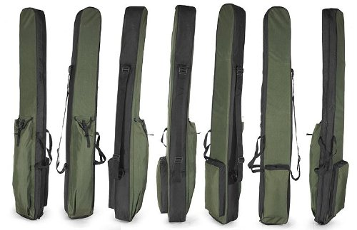 Holder Carry Case Fishing Rod Holdall 140cm // 55in Luggage for made up rods with reels Bag