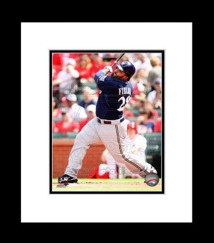 Milwaukee Brewers Prince Fielder Batting Framed 8x10 Picture