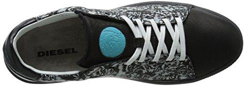Diesel Dyneckt S-naptik Graphique Mode Sneaker Noir / Vaporeux Gris