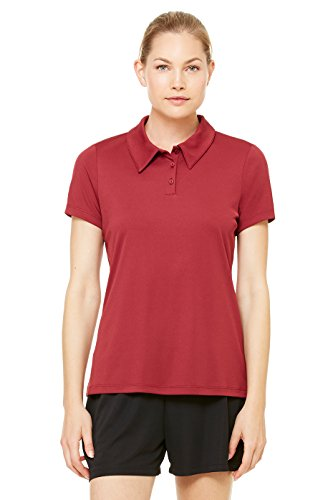 Zara Yoga Studio |LA| Sport Women's Performance 3 Button Polo 3XL (Sport Maroon) (Coupons Polo Online)