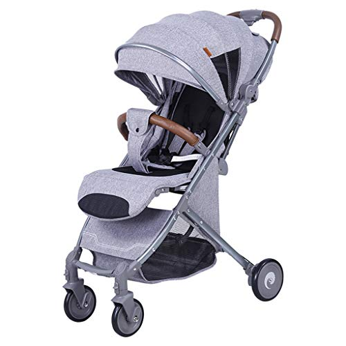 Xing Hua Shop Children's Trolley Children's Tricycle Children's Bicycle Portable High View Cart Foldable Comfort Cart Travel System Stroller Toys (Color : Gray, Size : 7051100cm)