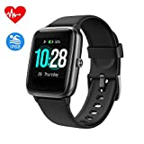 Fitpolo Health Fitness Watch, Activity Tracker with 1.3'' Color Touch Screen, Heart Rate Monitor, Sleep Monitor, Calorie Counter, Pedometer, Waterproof Smart Band for Men Women Kids(Black)