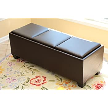 Amazon Com Hartley Coffee Table Storage Ottoman With Tray