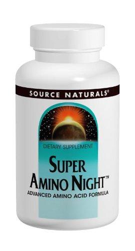 Source Naturals Super Amino Night, Advanced Amino Acid Formula, 120 Tablets Super Amino Acids