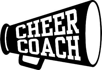 "Amazon.com: Cheer Coach Recreational Vinyl Decal Sticker- 20"" Wide Matte  White Color: Automotive"