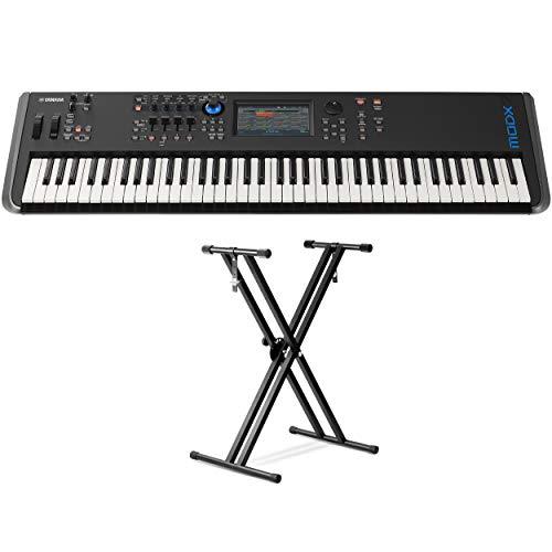 Yamaha MODX7 76-Key Synthesizer (With Double braced Keyboard Stand)