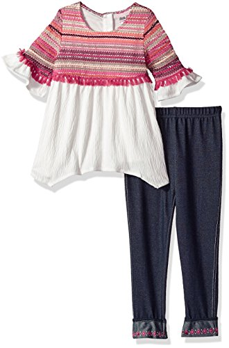 Little Lass Girls 2pc Novelty Crochet Knit Gauze Set