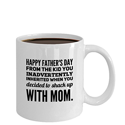 Comcl coffeemug Coffee Gift/Stepdad Shacking Up with My Mom Best Dad Ever 1st Day/Funny Father Mug, 11OZ