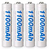 Beston High Capacity Rechargeable Battery 1100mAh Nickel-Metal Hydride 1.2V AAA 500 Cycles, Pack of 4