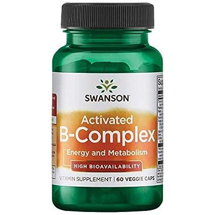 Swanson Ultra - Complejo de Vitamina B ACTIVADO, 60 Cápsulas Vegetarianas - Multivitaminas Alta Biodisponibilidad